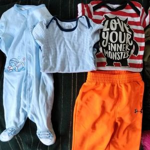 ‼️SALE‼️ 👣 BABY BOY CLOTHES LOT OF 4 (0-6 MNTHS)